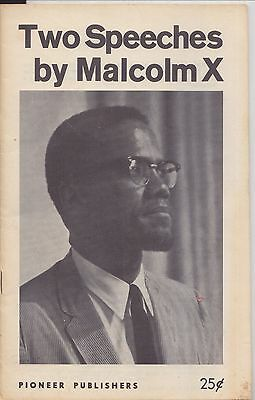1965 MALCOLM X ~ TWO SPEECHES published after ASSASSINATION Black Civil Rights
