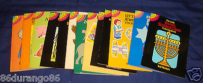 Lot Of 13 Dover Little Activity Books Little Jewish Stickers Zoo Animals New