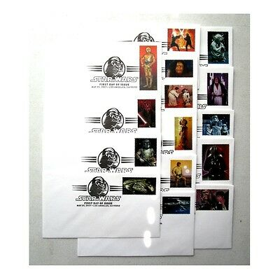 Star Wars May 25th 2007 First Day Issued Stamped Envelope Set