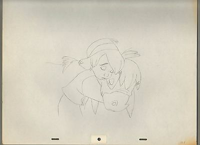 Disney The Small One Drawing cel 1978 Bluth Heartwarming Christmas image