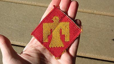 WW2 US Army Military ITALIAN Bevo Silk 45th INFANTRY DIVISION PATCH SSI INSIGNIA