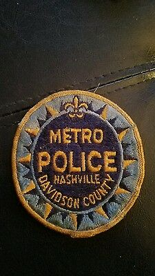 Old Nashville Tennessee Metro Police Patch Unused