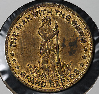 "Rare ""The Man with The Gunn - Grand Rapids"" St. Louis Exposition Gold Medal"