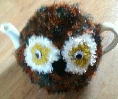 Knitted Tea Cosy Hoot New Large Pot Size