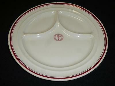"Vtg WWII US Army Medical Department Divided Plate 11"" Shenango China New Castle"