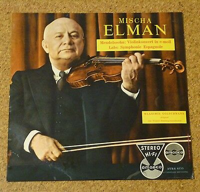 LP MISCHA ELMAN FIRST PRESS STEREO VIOLIN CONCERTO STEREO Amadeo AVRS 6155