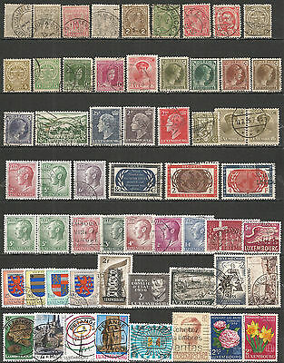 Luxembourg  from 1882  nice used stamps