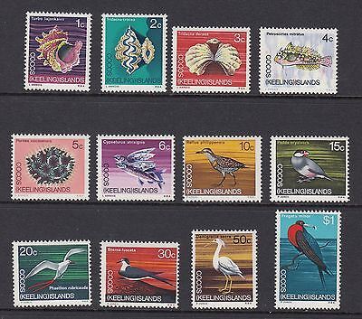 COCOS ISLANDS 1969 PICTORIALS, Set of 12, Mint Never Hinged