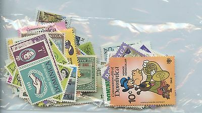 DOMINICA-Accumulation of 86 stamps