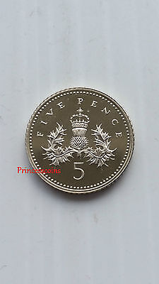 Uk 1999 Badge Of Scotland Thistle 5P Five Pence Proof Coins- Small Type Km#988