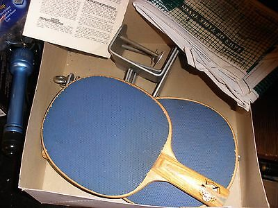 Vintage Ping Pong Table Tennis Partial Set