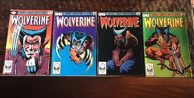 Marvel X-Men 1982 Wolverine 1st Solo Limited Series Comic # 1 2 3 4 NM Lot
