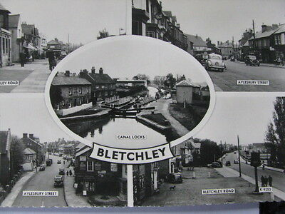 "Rare Vintage Photo Postcard ""bletchley"" 5 Great Views"