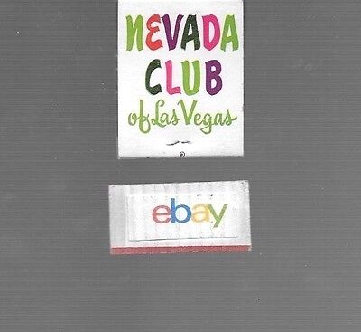 Nevada Club Casino Las Vegas,nevada Matchbook Unstricken-Full 1960's
