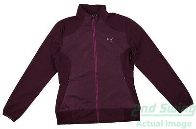 New Womens Puma Water Proof Storm Cell Golf Jacket Small Plum 569082 MSRP$95