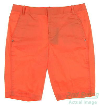New Womens Ralph Lauren Golf Shorts Size 6 Orange MSRP $98
