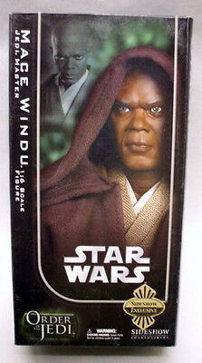 "SIDESHOW COLLECTIBLES_Star Wars_MACE WINDU 12 "" figure_Exclusive Limited Edition"