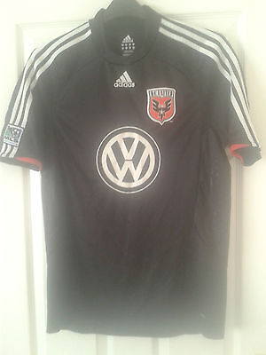 Mens Football Shirt - DC United - Washington - Home 2008 - Adidas - MLS Badges