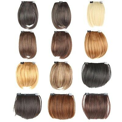 UK Sellers Women Clip On Clip In Front Straight Hair Bang Fringe Hair Extensions