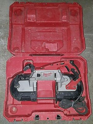 Milwaukee 6232-20 Handheld Deep Cut Variable Speed Band Saw, 11 Amp, W/ Case