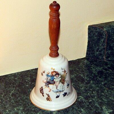 Vintage 1975 Norman Rockwell LOVE'S HARMONY Gorham Fine China Collector's Bell