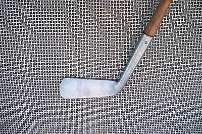Antique Vintage Hickory Shaft Early Smooth Face Scotland 20* Cleek Player