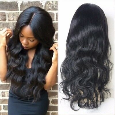 Top Glueless Lace Front Wig Virgin Brazilian Human Hair Natural Wave Full Wigs A