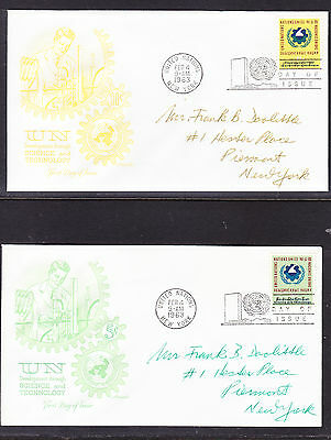 """United Nations """"Artmaster"""" 1963  - Science & Technology TWO   FDC addressed"""