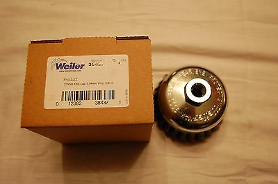 """Weiler 38437 100mm 4"""" Knot Cup Wire Brush 5/8-11"""
