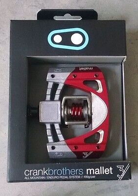 2017 CRANK BROTHERS Mallet 3 Pedals Raw/Red