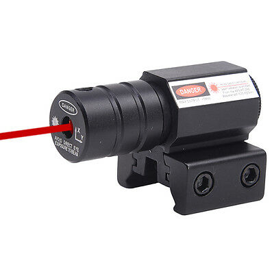 Tactical Red Dot Laser Sight Scope for Gun Rifle Pistol Picatiny Mount Hunt Game