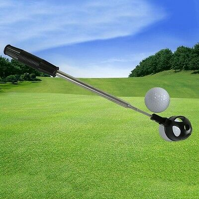 New Golf Ball Retriever Telescopic Pick Up Scoop Shaft Stainless Steel Accessory
