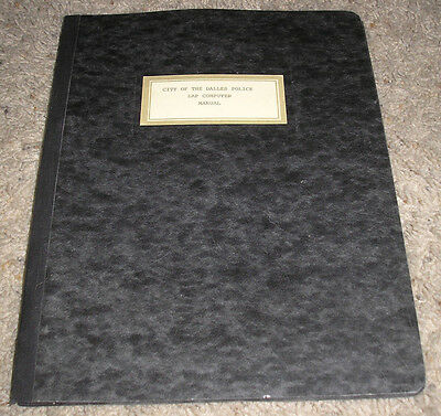 City of The Dalles Oregon Police Lab Computer Manual - Very Rare 1987 Documents!