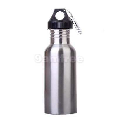 Stainless Steel WATER DRINK BOTTLE SPORT CAMPING HIKING CYCLING JUG flask 500ML
