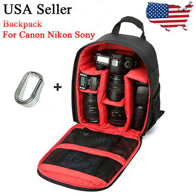 Camera Bag Backpack Waterproof DSLR Case Carabiner for Canon Sony Nikon GOPRO