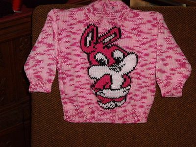 Bunny Rabbit... Size 12-18 Months.. New Handknitted.. Great Baby Easter Gift