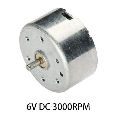 6V DC 3000RPM High-power Torque Magnetic Mini Electric Motor 2 Terminals Connect