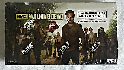WALKING DEAD season 3 part 1 trading cards full wax box ~24 packs~ SEALED retail