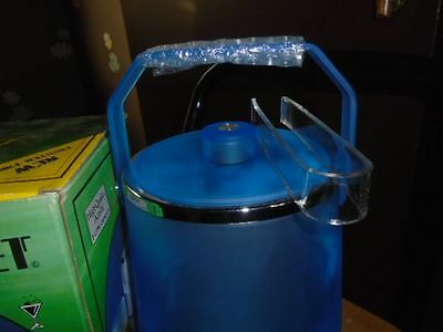 Classic Acrylic Double Walled Insulated Ice Bucket/Lid/Tongs Frosted Finish