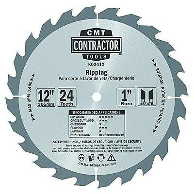 CMT K02412 ITK Contractor Ripping Saw Blade, 12 x 24 Teeth, 10° ATB with New