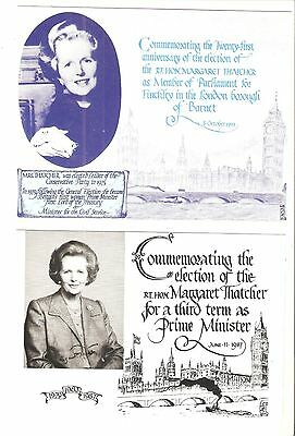 MARGARET THATCHER  2 x FAGA POSTCARDS  unused