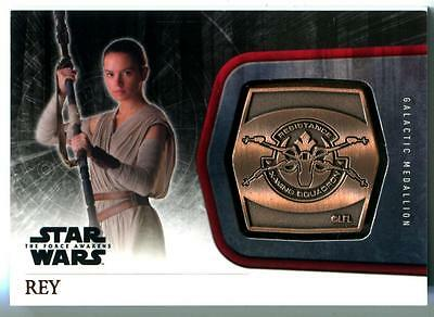 2015 Star Wars The Force Awakens Rey Series One Medallion #M-18 The Resistance