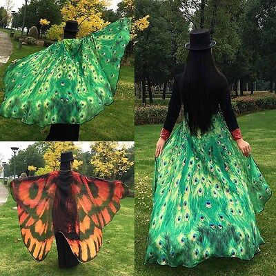 Soft Fabric Butterfly Wings Shawl Fairy Ladies Nymph Pixie Costume Accessory New