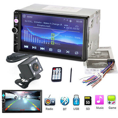 """2 Din 7"""" Head Unit Car MP5 Player FM Stereo Radio Touch Screen 60W X4 Amplifier"""