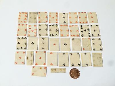 Antique Rare Miniature Playing Cards Part Set NAPOLEONIC Prisoner of War #N10