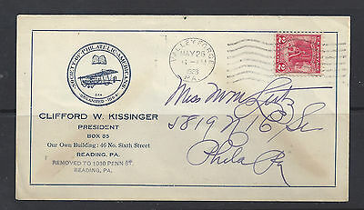#645 first day cover, Valley Forge, PA cancel, return address Pres., SPA