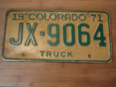 1971 Colorado License Plate Expired Jx 9064