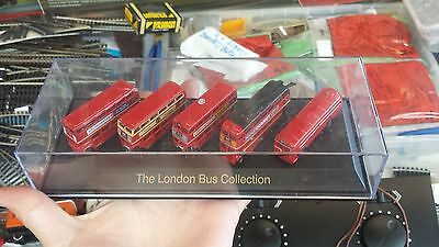 N GAUGE oxford NSet london double & single decker & trolley 5 bus collection