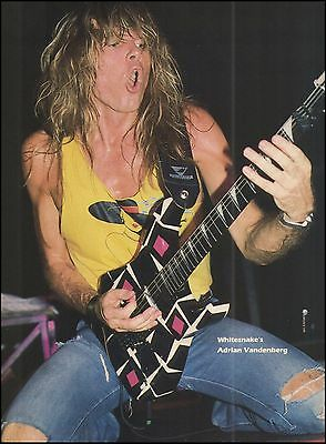 Whitesnake Adrian Vandenberg backed by WASP's Chis Holmes 8 x 11 pinup photo