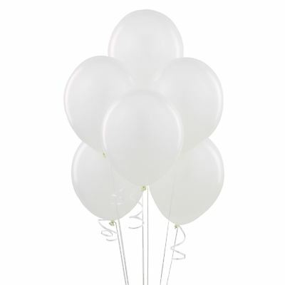 "12"" Plain White Latex Balloons Party Decorations Wedding Anniversary Birthday"